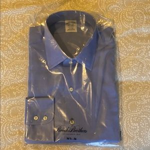 Brooks Brothers Blue Non-Iron Dress Shirt